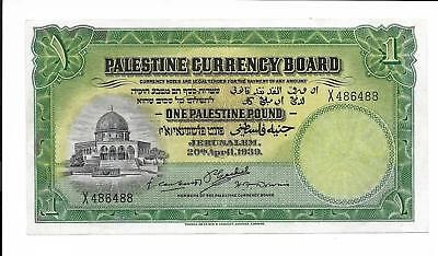 Palestine Currency Board - 1 pound, 1939. EF - AU. RARE.