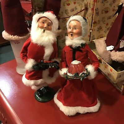 Byers' Choice The Carolers lot of Santa Claus Mrs Claus Christmas 2013