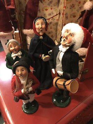 Byers' Choice Ltd THE CAROLERS Lot Of 4 Christmas Figures 1990s Salvation Army