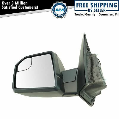 Mirror Manual Textured Black Driver Side Left LH for Ford F150 New