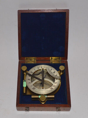 Exceptional Equinoctial compass sundial & case – Newton & Co.