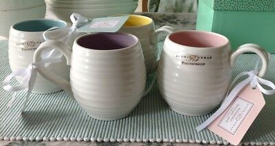 Sophie Conran For Portmeirion Set Of 4 Honeypot Mugs New