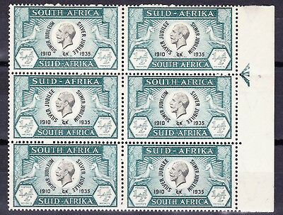 SouthAfrica1935 JUBILEE 1/2d CONSTANT VAR R 12/5 SPOTS ROUND KING VF MNHOG SG65b