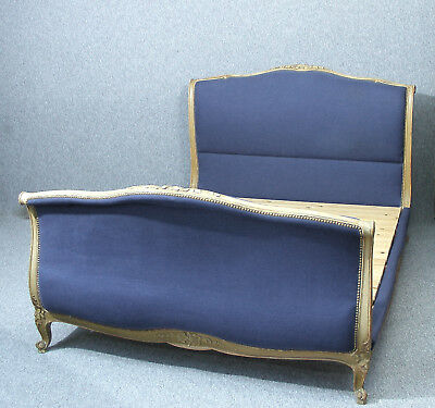 Antique French Upholstered Double Bed
