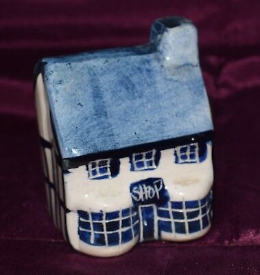 Blue & White Double Bow Window Shop Pottery Model Tey or Mudlen End?
