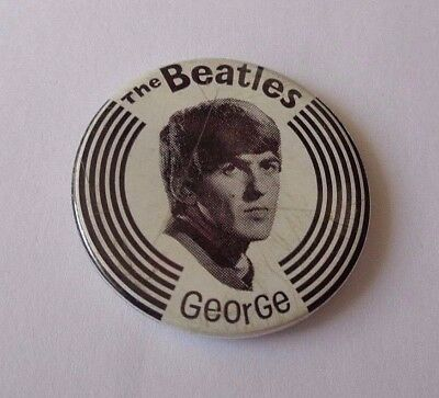 The Beatles Tin Button Lapel  Badge  George