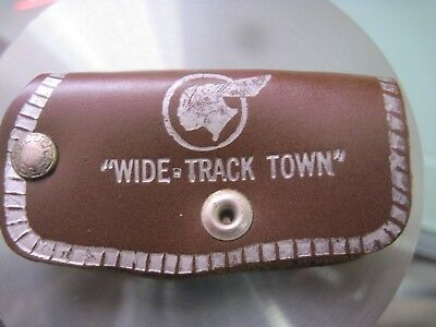 "Vintage Nos Pontiac Dealer Leather Key Chain ""wide Track Town"" Nr"