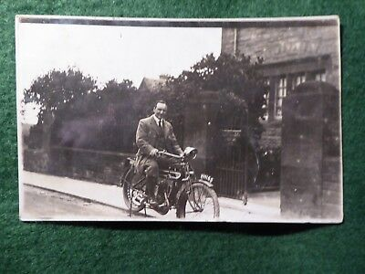 East Lothian. East Linton. Bank Manager ? Motorbike With Carlisle Reg. 1915. RP.