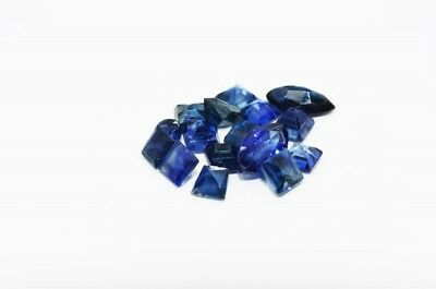 1.40Ct Natural Multi Cut Blue Sapphire Lot Of Loose Gemstones