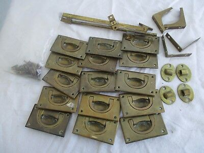 Vintage Brass Campaign Furniture Handles & Fittings Job Lot