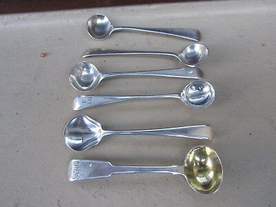Solid silver salt spoons London hallmarks great condition 6 in all