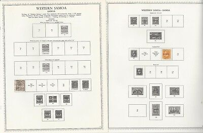 Samoa Collection 1877-1987 on 72 One-Sided Minkus Specialty Pages