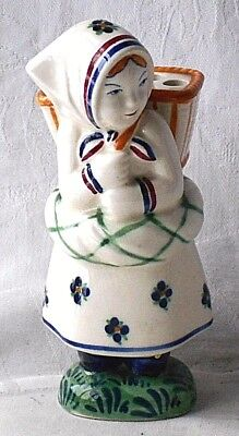 Early C20Th Aluminia Demark Faience Figure Of A Girl With A Basket On Her Back