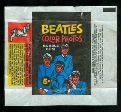 1964 Topps BEATLES COLOR PHOTOS WRAPPER (5-Cent Wax Pack)