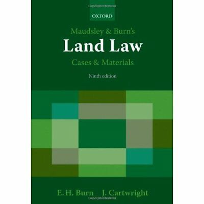 Maudsley & Burn's Land Law Cases and Materials - Paperback NEW Burn, Edward 2009