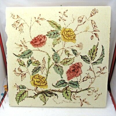 Victorian All Colours Flowers   Tile