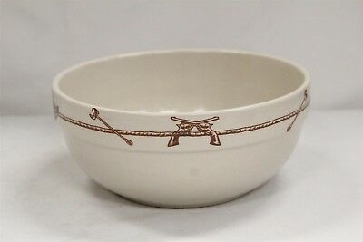 Sky Ranch Texas Dinnerware Steer Heads Man Barrel China Sterling Bowl