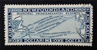nystamps Canada NewFoundland Air Mail Stamp # C8 Used UN$80 VF