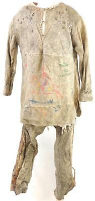 EXTREMELY RARE  Native American Indian 1800s hide WARRIORS OUTFIT