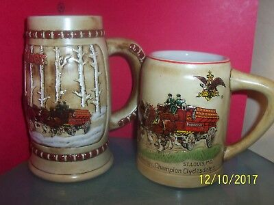 Budweiser  Holiday Steins, 1980-81  In  Great  Shape