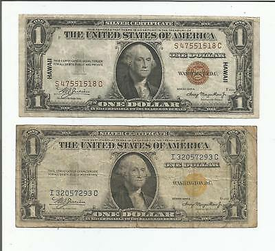 1935 $1 Hawaii - 1935 $1 North Africa Wwii Silver Certificates