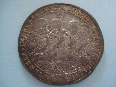 1615 Saxe Weimar Middle 8 Brothers Large Silver Thaler Taler Coin Removed Mount
