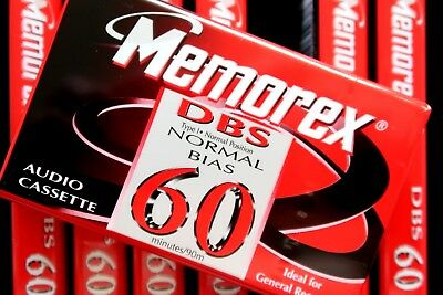 Memorex Dbs 60 Normal Position Type I Blank Audio Cassette - 1997