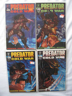 "PREDATOR, ""COLD WAR""  : COMPLETE 4 ISSUE MINI SERIES by VERHEIDEN & RANDALL.1991"