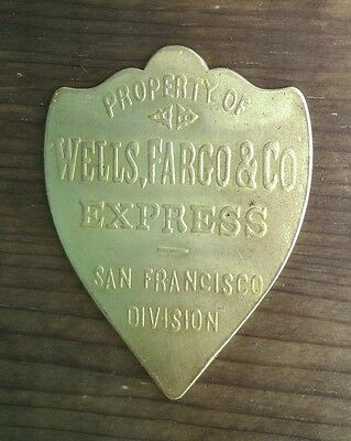 Wells Fargo & Co Brass Tag San Francisco Division Strong Box, Gold Chest, Ammo