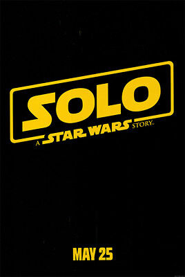 Solo A Star Wars Story - original DS movie poster - 27x40 D/S Advance 2018 Han