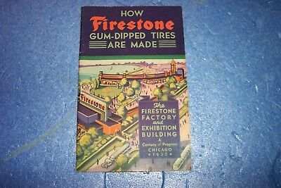 1933 Firestone Century Of Progress Illustrated Product Book 34 Pgs--Lqqk