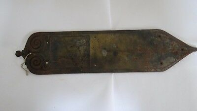 Amazing Rare Large Antique Yale & Towne Cast Iron Entry Door Plate Knight Design