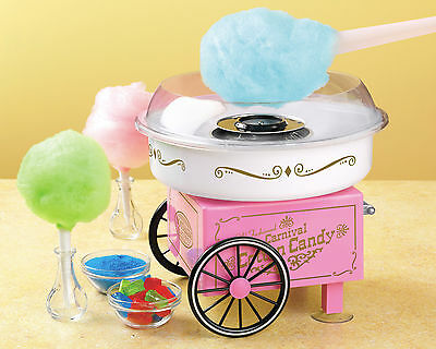 VINTAGE STYLE COTTON CANDY MAKER MACHINE ~ Use HARD or SUGAR-FREE ~ PCM-305 PINK