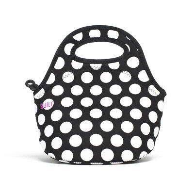 BUILT NY Gourmet Getaway Mini Lunch Totes Neoprene Insulated Big Dot Black & Whi