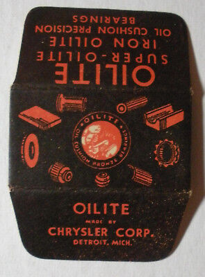 Vintage Made in USA Razor Blade OILITE Chrysler Corp Black Version aDVERTISING