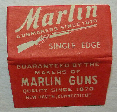 Vintage Made in USA Razor Blade MARLIN Single Edge