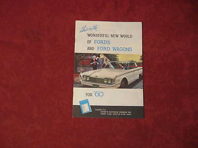 1960 Ford booklet Dealership Brochure Old Original Book FOMOCO Vintage