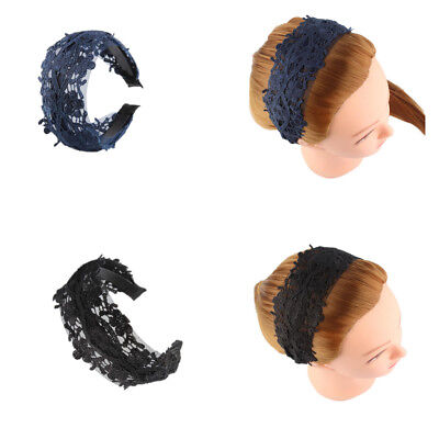 Womens Girls Braided Floral Wide Lace Hair Wrap Headband Alice Band Hairband