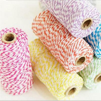 100m Bakers Coloured Twine Bundle Cotton Best Quality String Ribbon Craft Z