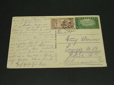 Morocco 1930s picture postcard to Germany *23227