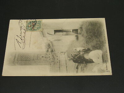Morocco 1901? Oudjda picture postcard to France *23273