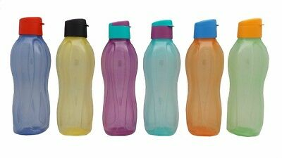 Tupperware Easy Drink Eco Bottle Flip Top Colourful 1L H20 On The Go Sport New