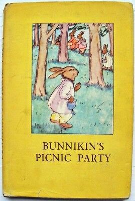 RARE VINTAGE LADYBIRD BOOK - Bunnikin's Picnic Party with DJ - Series 401 - 1943