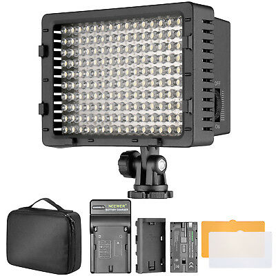 Neewer 160 Dimmable LED Video Light Kit with Battery for Canon Nikon Pentax Sony