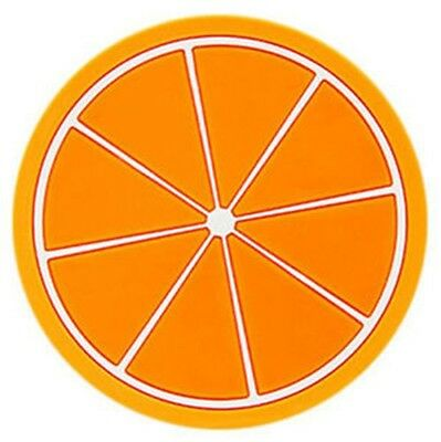 small Silicone Heat Insulation Coasters Mat Resistant Orange paddle^%%%662222222