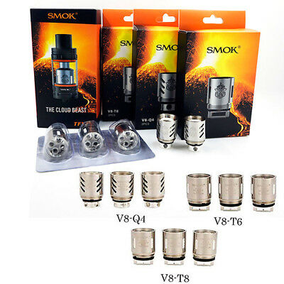 3PCS Authentic TFV8 Cloud Beast SMOK V8-Q4/T6/T8/T10 Replacement Coils Coil Head