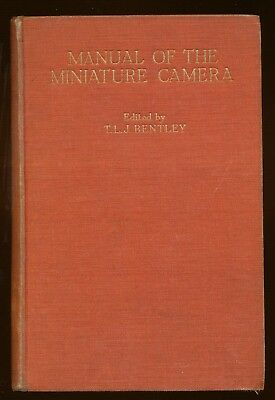 """T.L.J.Bentley libro """"Manual of the Miniature Camera"""" 1953 in inglese L070"""