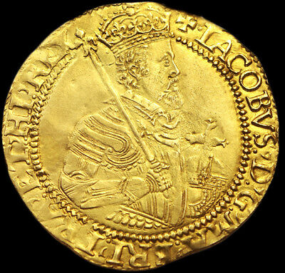 KING JAMES THE I 1604 - 1619 GOLD UNITE Excellent Coin...