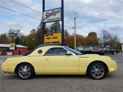 2002 Ford Thunderbird Premium 2002 FORD THUNDERBIRD CONVERTIBLE 13K ORIGINAL MILES COLLECTOR QUALITY HARD TOP!