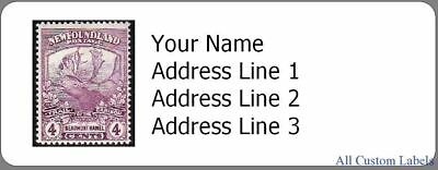 Custom Return Address Labels for Newfoundland Stamp Collectors